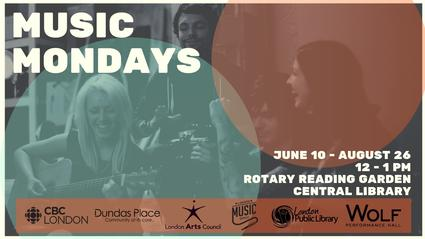 Music Mondays, June 10-August 26 at Central Library